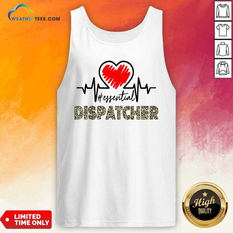 Heartbeat Essential Dispatcher Tank Top - Design By Weathertees.com