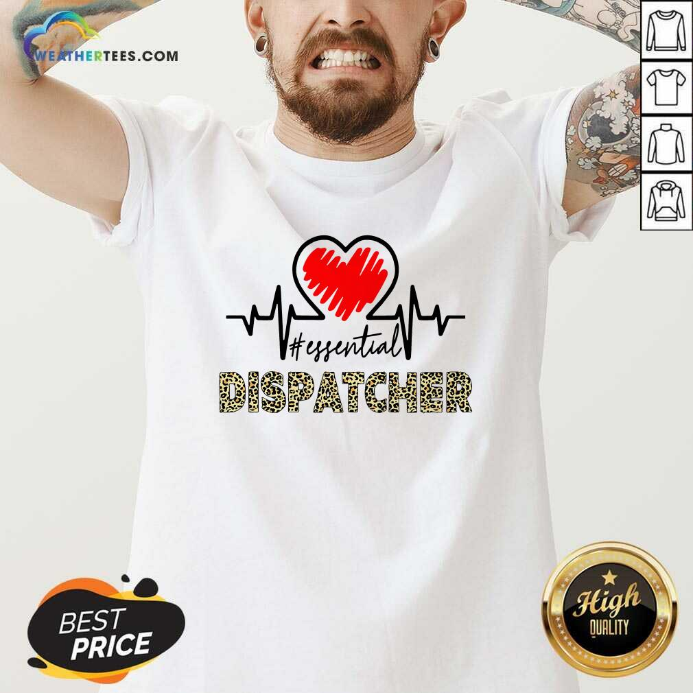 Heartbeat Essential Dispatcher V-neck - Design By Weathertees.com