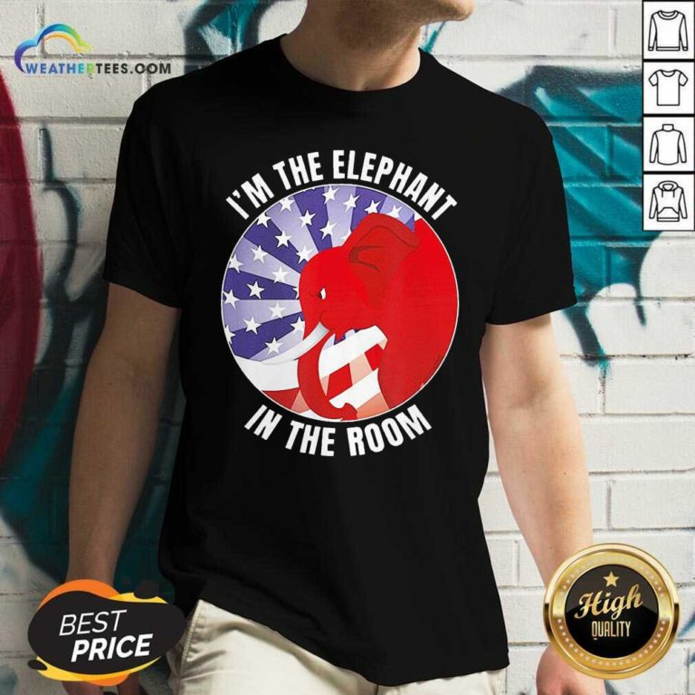 I'm The Elephant In The Room Republican Conservative V-neck - Design By Weathertees.com