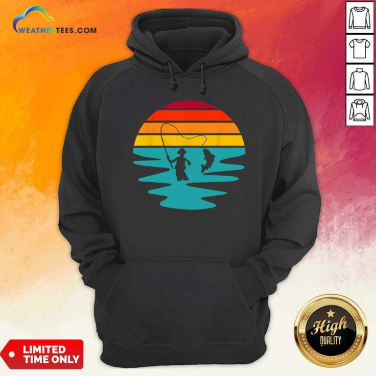 Sunset Artificial Nymph Fly Fishing Vintage Hoodie - Design By Weathertees.com