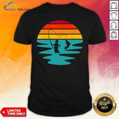 Sunset Artificial Nymph Fly Fishing Vintage Shirt - Design By Weathertees.com