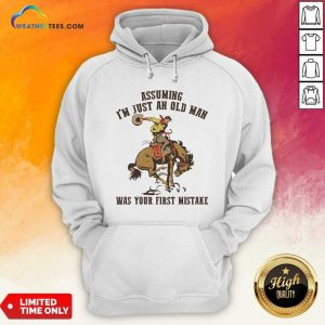 Assuming I'm Just An Old Man Was Your First Mistake Horse Hoodie - Design By Weathertees.com