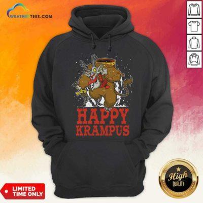 Happy Krampus Merry Christmas Hoodie - Design By Weathertees.com