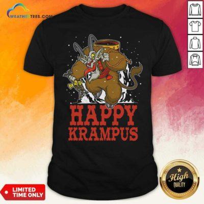 Happy Krampus Merry Christmas Shirt - Design By Weathertees.com