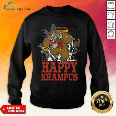 Happy Krampus Merry Christmas Sweatshirt - Design By Weathertees.com