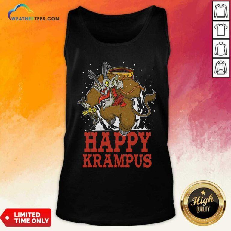 Happy Krampus Merry Christmas Tank Top - Design By Weathertees.com