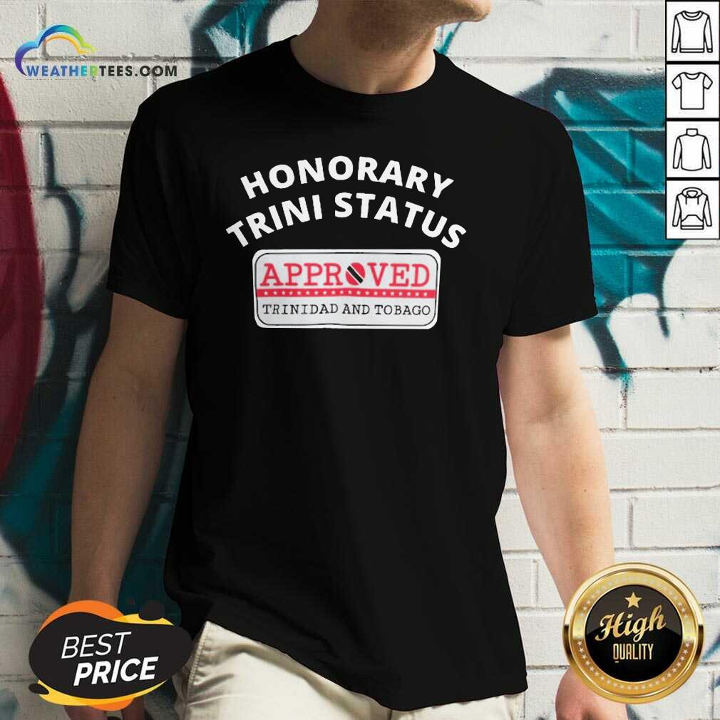 Honorary Trini Status Approved Trinidad And Tobago V-neck - Design By Weathertees.com