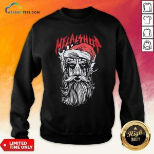 Metalshop Santa Merry Christmas Sweatshirt - Design By Weathertees.com