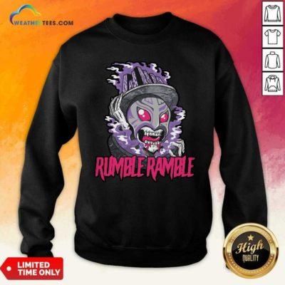 Monster Rumble Rumble Sweatshirt - Design By Weathertees.com
