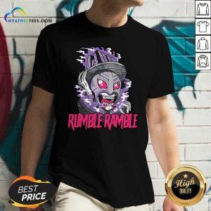 Monster Rumble Rumble V-neck - Design By Weathertees.com