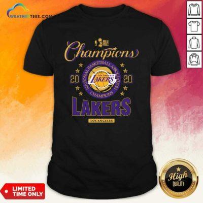 NBA Finals Champions National Basketball Association Los Angeles Lakers 2020 Shirt - Design By Weathertees.com