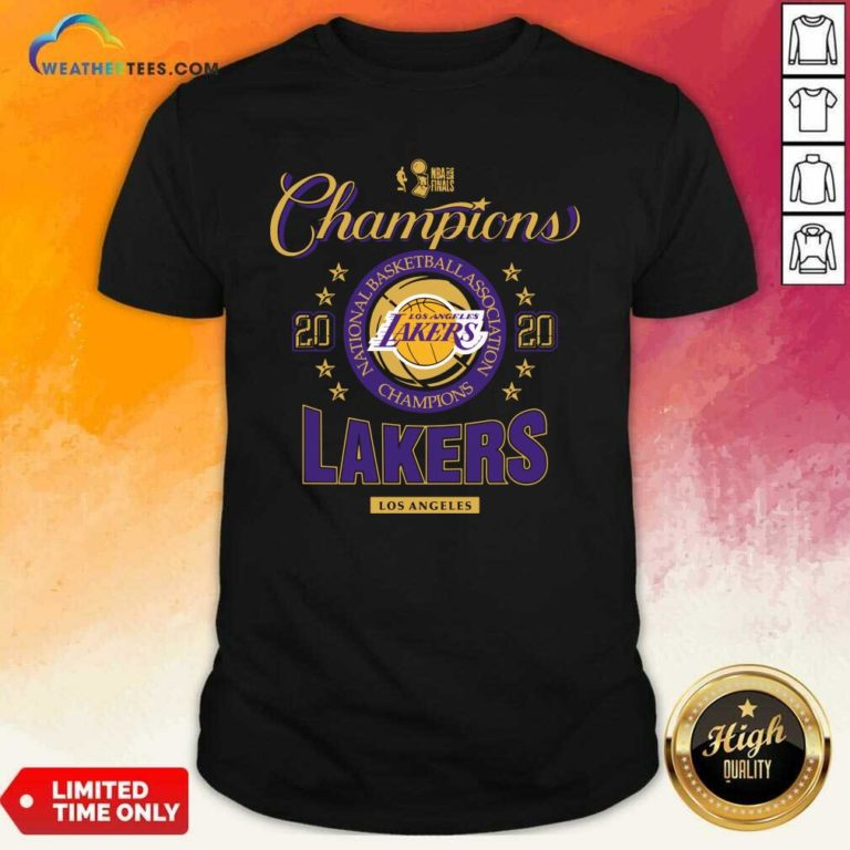 NBA Finals Champions National Basketball Association Los Angeles Lakers 2020 Shirt - Design By Weathertees.com