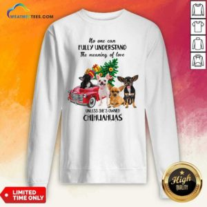 No One Can Fully Understand The Meaning Of Love Chihuahuas Christmas Sweatshirt - Design By Weathertees.com