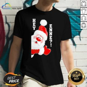Santa Claus Hey Enne Christmas V-neck - Design By Weathertees.com