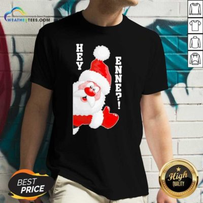 Santa Claus Hey Enne Christmas V-neck - Design By Weathertees.com