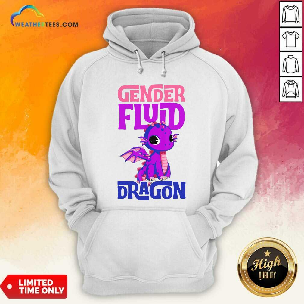 Gender Fluid Dragon Hoodie - Design By Weathertees.com