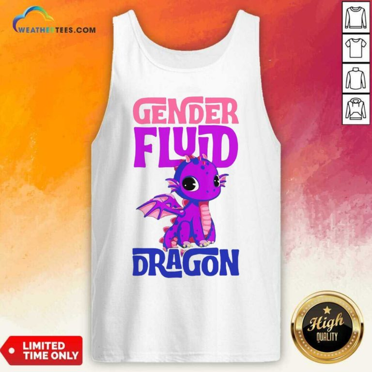 Gender Fluid Dragon Tank Top - Design By Weathertees.com