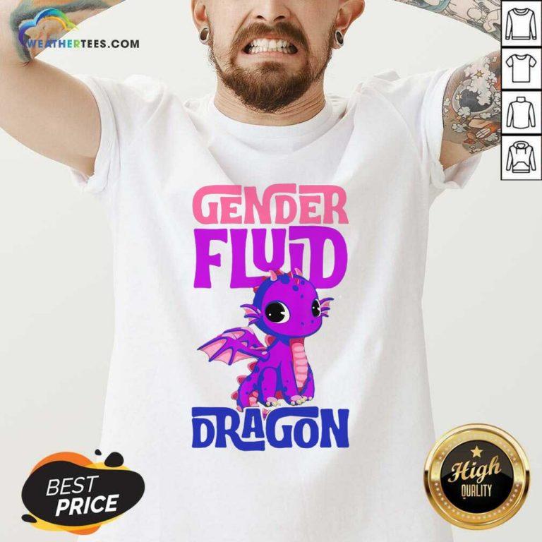 Gender Fluid Dragon V-neck - Design By Weathertees.com