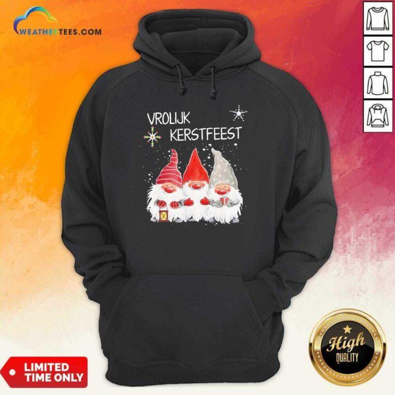 Gnomies Vrolijk Kerstfeest Christmas Hoodie - Design By Weathertees.com