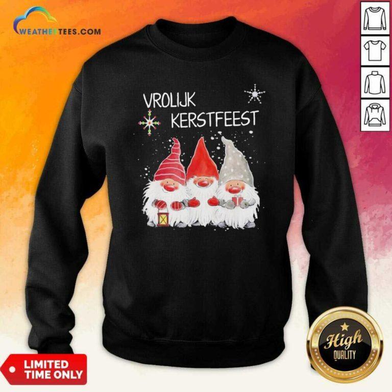 Gnomies Vrolijk Kerstfeest Christmas Sweatshirt - Design By Weathertees.com