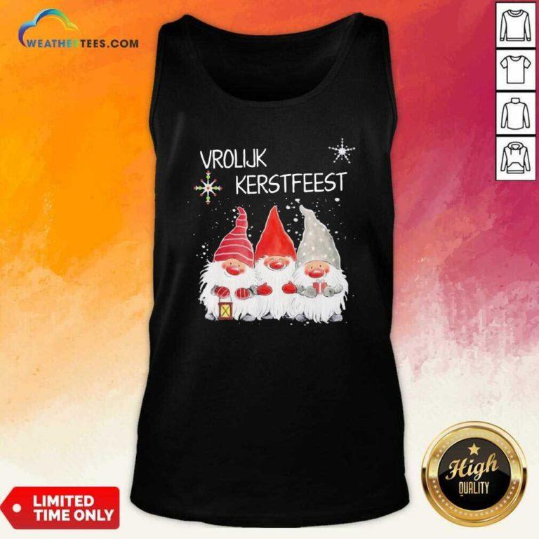 Gnomies Vrolijk Kerstfeest Christmas Tank Top - Design By Weathertees.com