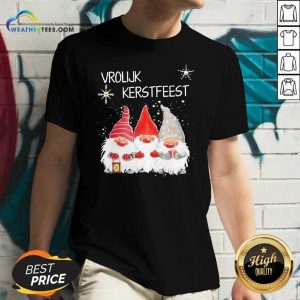 Gnomies Vrolijk Kerstfeest Christmas V-neck - Design By Weathertees.com