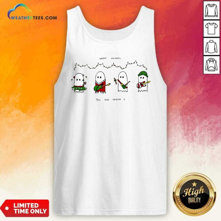 Holiday Ghosties Tank Top - Design By Weathertees.com