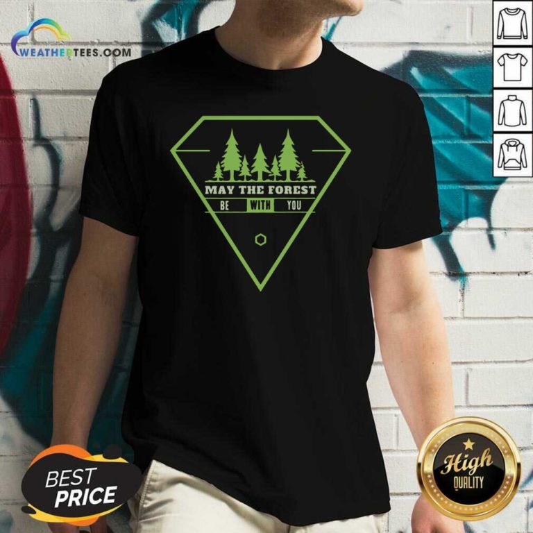 May The Forest Be With You V-neck - Design By Weathertees.com