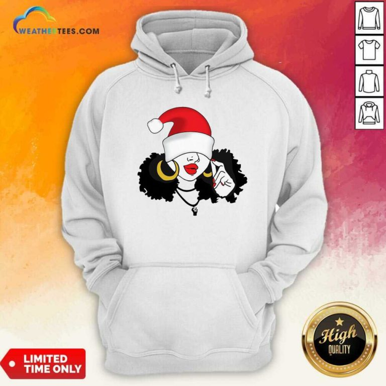 Merry Christmas Black Girl Magic Hoodie - Design By Weathertees.com