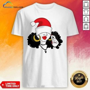 Merry Christmas Black Girl Magic Shirt - Design By Weathertees.com