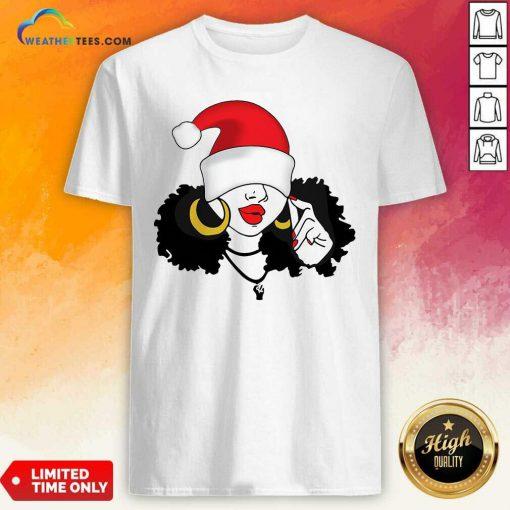 Merry Christmas Black Girl Magic Shirt - Design By Weathertees.com