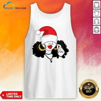 Merry Christmas Black Girl Magic Tank Top - Design By Weathertees.com