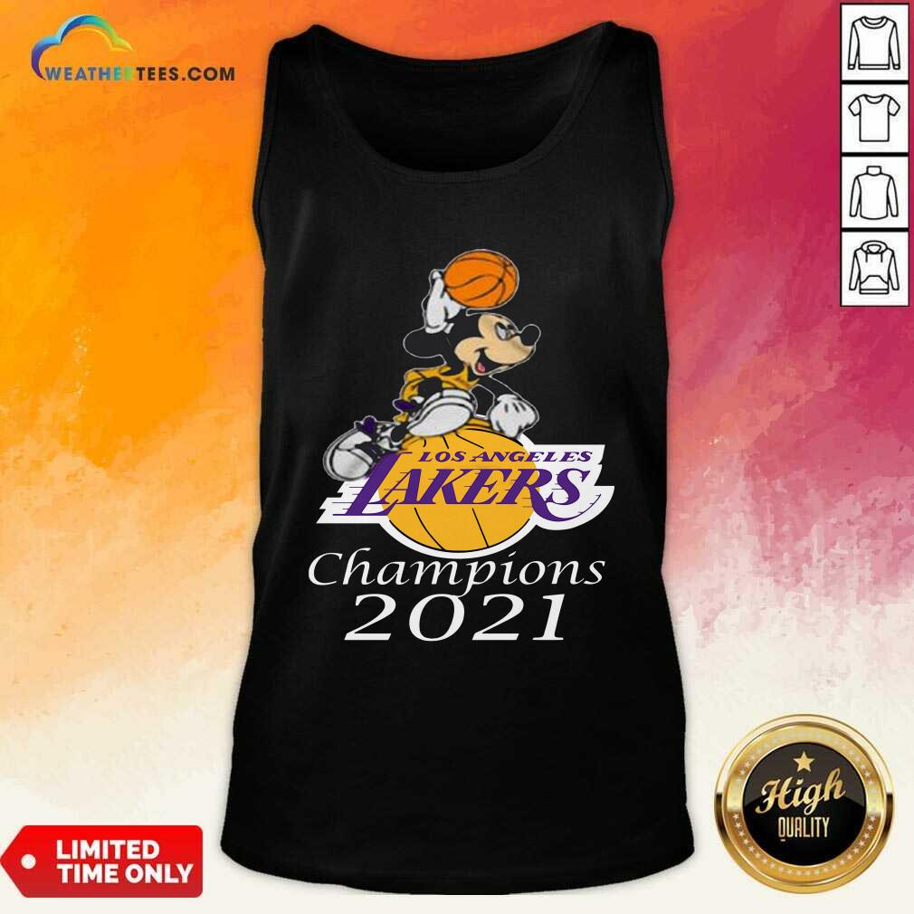 Mickey Mouse Los Angeles Lakers Champions 2021 Tank Top - Design By Weathertees.com
