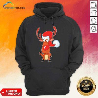 Reindeer Santa Christmas Hoodie - Design By Weathertees.com