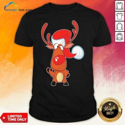 Reindeer Santa Christmas Shirt - Design By Weathertees.com