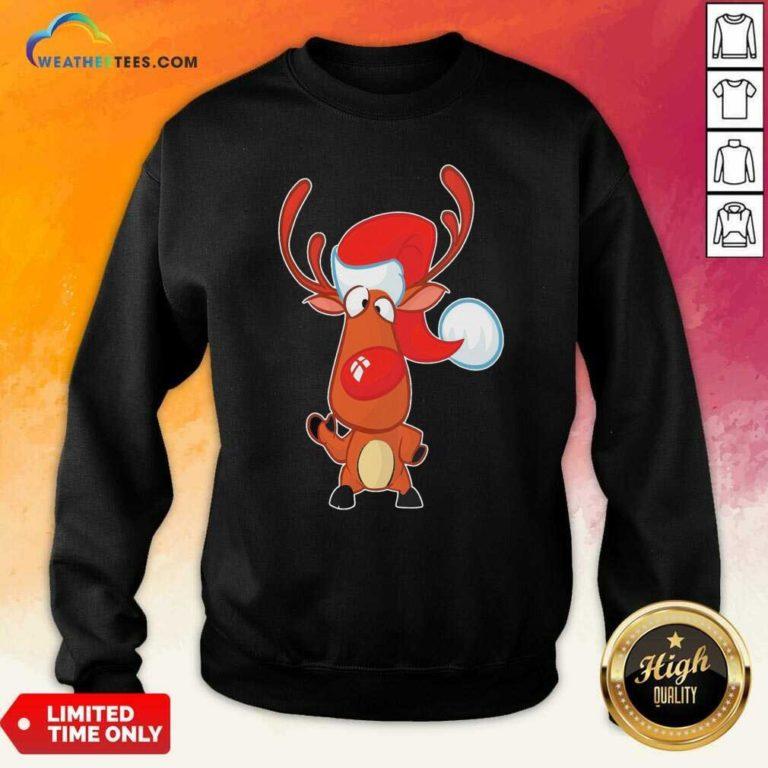 Reindeer Santa Christmas Sweatshirt - Design By Weathertees.com