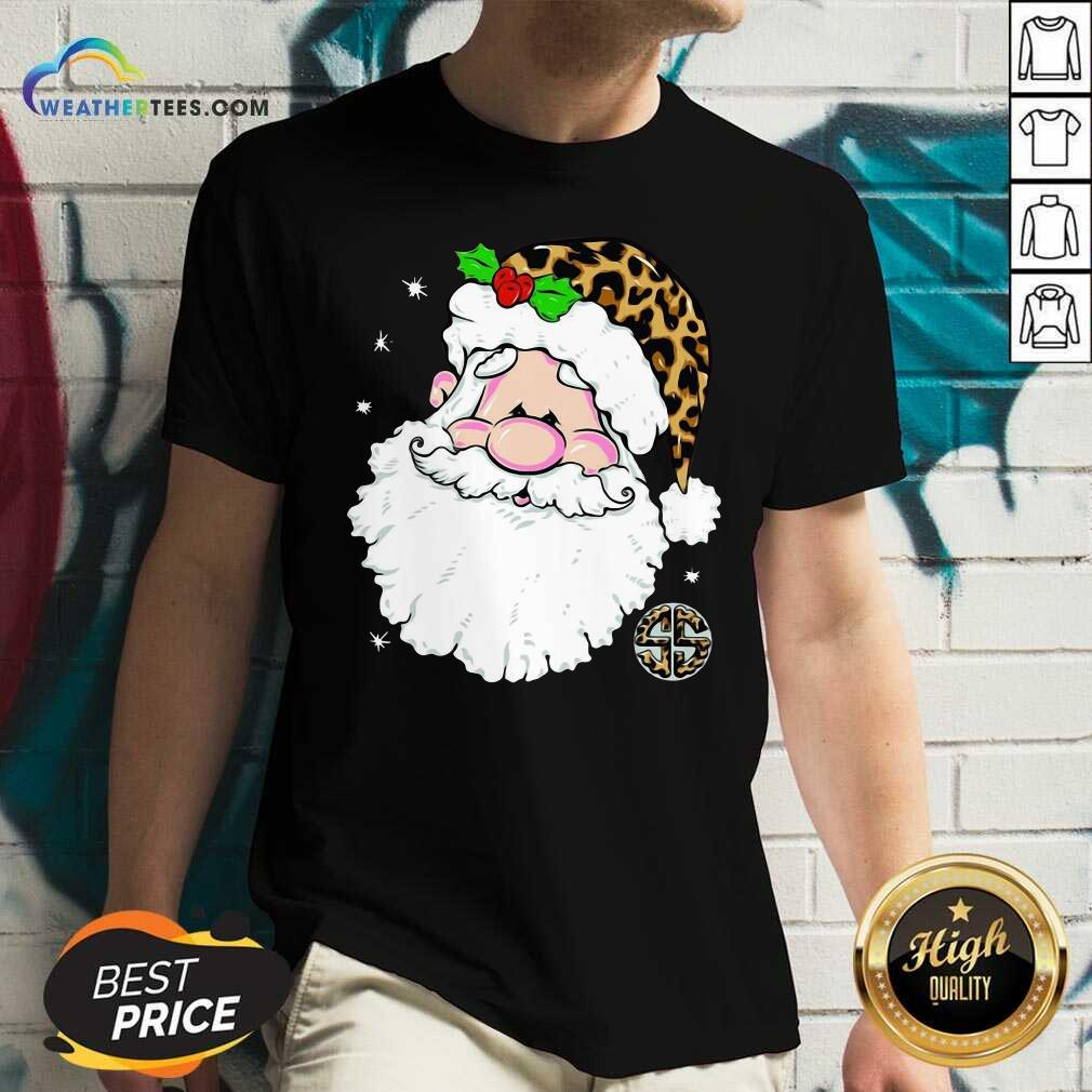 Santa Simply Southern Fa-la-la Ugly Christmas V-neck - Design By Weathertees.com