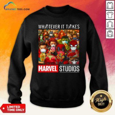 Whatever It Takes Marvel Studios Avengers Face Mask Sweatshirt - Design By Weathertees.com