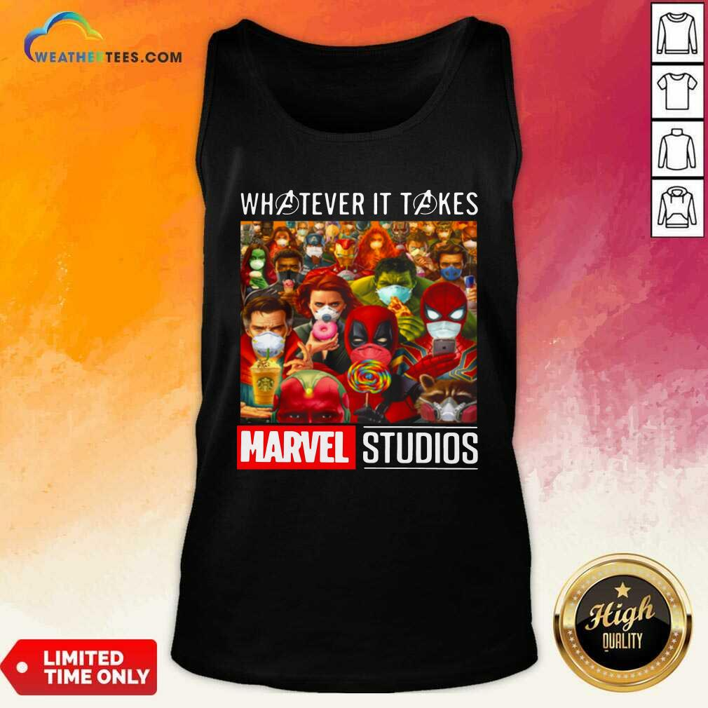Whatever It Takes Marvel Studios Avengers Face Mask Tank Top - Design By Weathertees.com