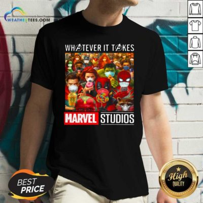 Whatever It Takes Marvel Studios Avengers Face Mask V-neck - Design By Weathertees.com