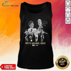 Diego Maradona Hasta Siempre Diego 1960 Signature Tank Top - Design By Weathertees.com