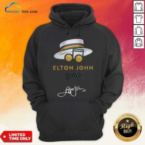 Elton John Hat Signature Hoodie - Design By Weathertees.com