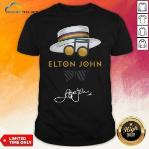 Elton John Hat Signature Shirt - Design By Weathertees.com