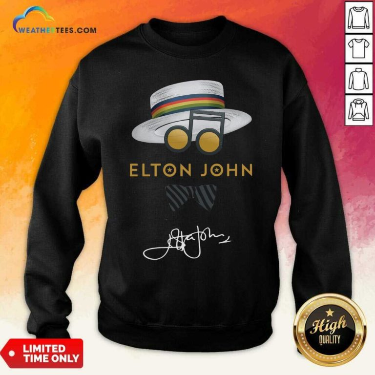 Elton John Hat Signature Sweatshirt - Design By Weathertees.com