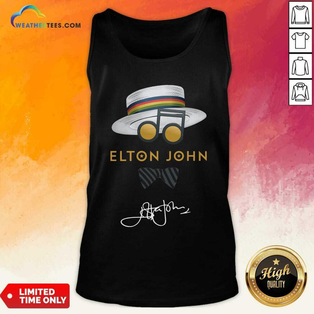 Elton John Hat Signature Tank Top - Design By Weathertees.com