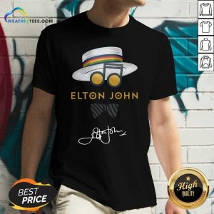 Elton John Hat Signature V-neck - Design By Weathertees.com