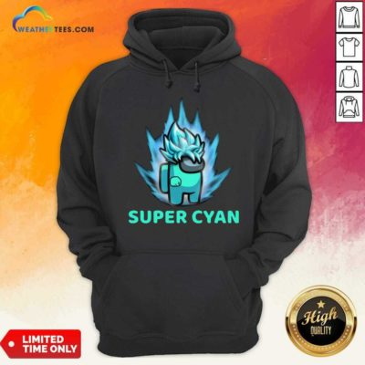 Imposter Among Us Super Cyan Hoodie - Design By Weathertees.com