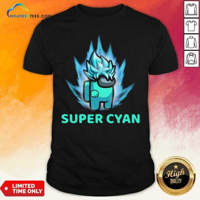 Imposter Among Us Super Cyan Shirt - Design By Weathertees.com