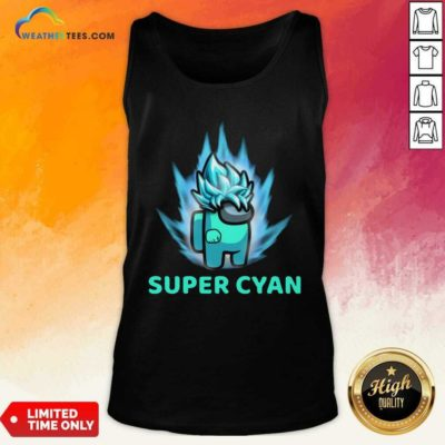 Imposter Among Us Super Cyan Tank Top - Design By Weathertees.com