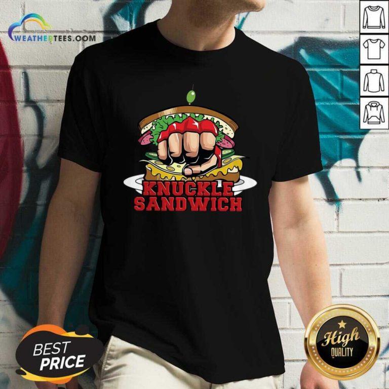 Knuckle Sandwich FKB V-neck - Design By Weathertees.com